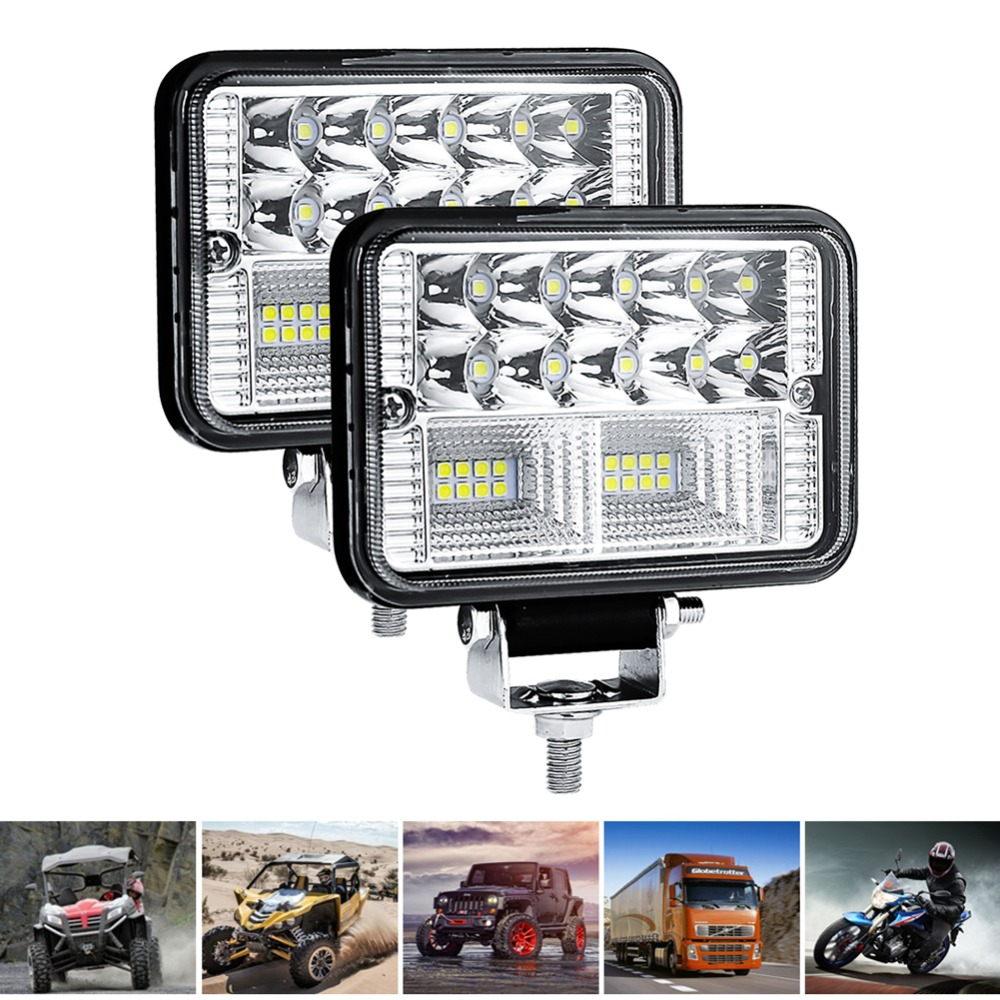 2pcs 16LED Glühbirnen Auto//Arbeit//Stange Licht Fahr Nebelscheinwerfer 12V SUV