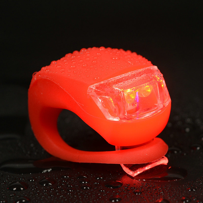 Bicycle Front Light Silicone LED Head Front Rear Wheel Bike Light Waterproof Cycling With Battery Bicycle Accessories Bike Lamp (11)