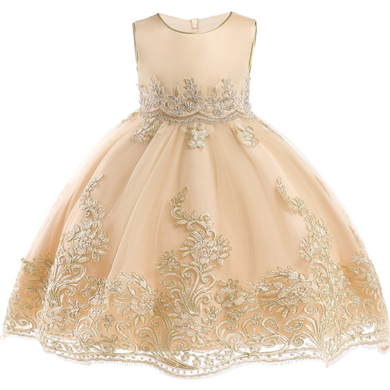 Flower-Girl-Princess-Wedding-Party-Dresses-Gold-Wire-Embroidery-Kids-Prom-Ball-Gowns-Formal-Baby-Clothes (1)
