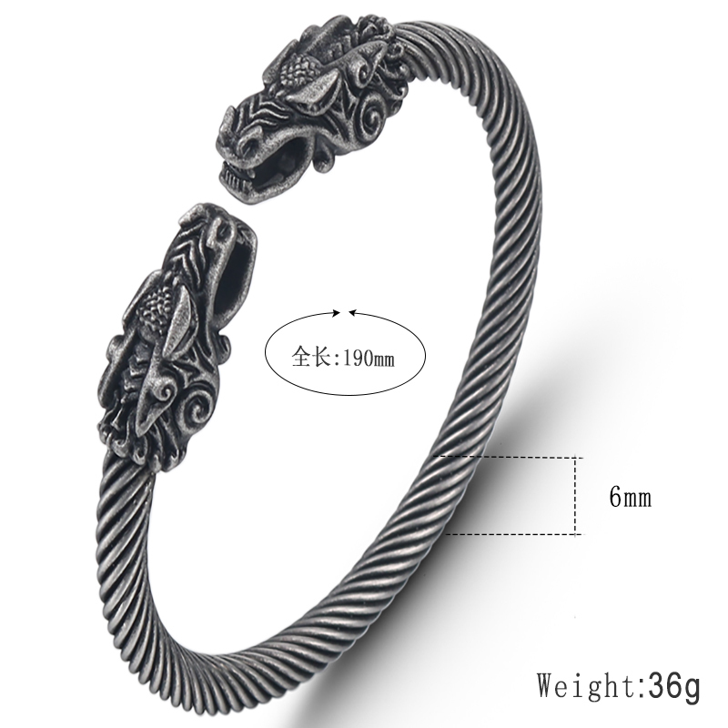 jingyang stainless steel faucet Ancient silver bracelets for men friendship charms personalized bracelet best friend bracelet