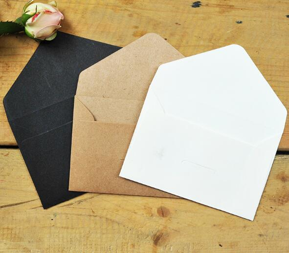12 X Small Ancien Envelopes Vintage Style for Mini Cards Western Envelope xxf
