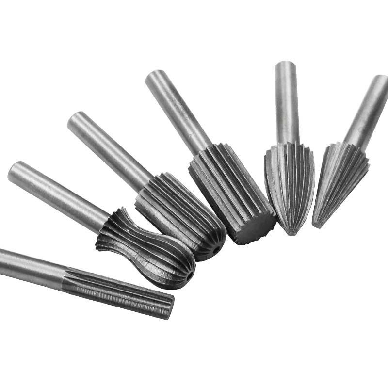 """1//4/"""" tige haute en acier au carbone Rotary Burr fichier Bois Fraisage Drill Cutter Outil 10x"""