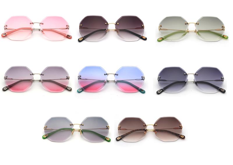 Octagon Sunglasses Women Fashion detaail (2)