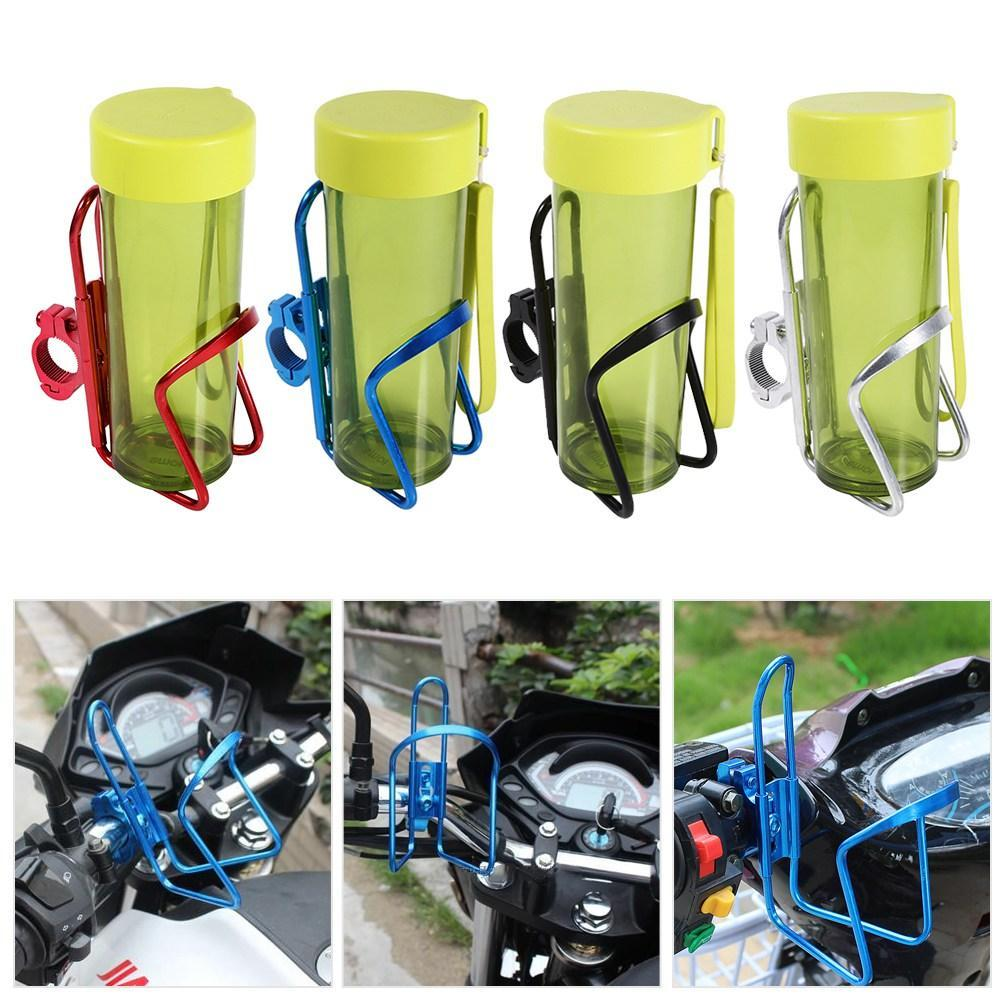 Tbest Motorcycle Cup Holder,Motorcycle Motorbike Lightweight Aluminum Alloy Drink Cup Holder Water Beverage Support Handlebar Bottle Adapter for Motorbike Bike Bicycle ATV Black