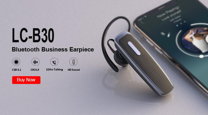 Black Blue Tooth Earphone Headphone LC-B30 Wireless Headset Earphone Earbuds Hands Free for Phone Computer