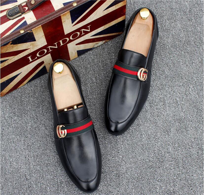 Nouveau style Hommes chaussures en cuir luxe mocassins à la main glisser sur designer italien robe masculine chaussure de mode Parti Chaussures De