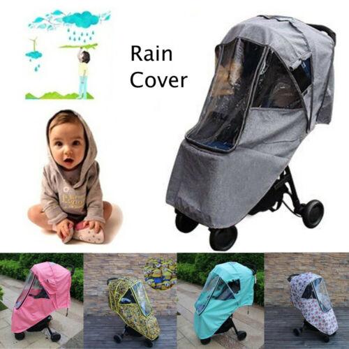 Universal Cochecito Buggy Cochecito Pram Transparente bebé cubierta de la Lluvia Viento Escudo