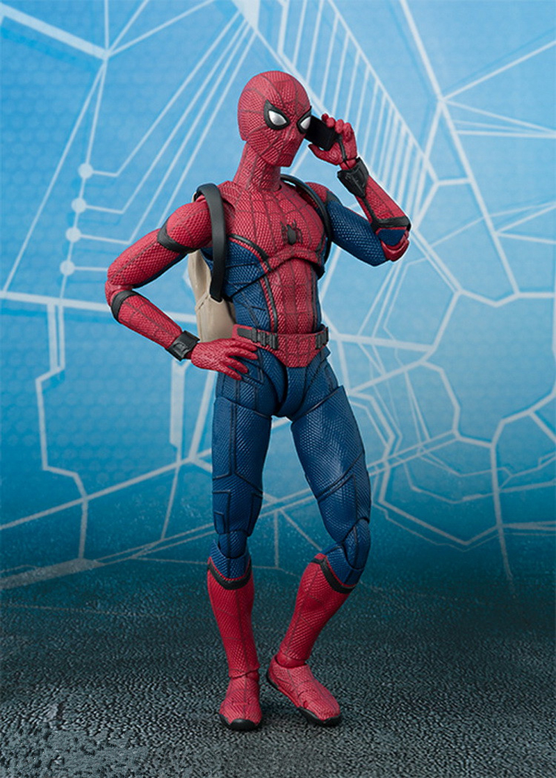 2017 New Spiderman Series Spider-Man PVC Action Figure Collectible Model Toy Christmas Gift for Kids 15cm (7)