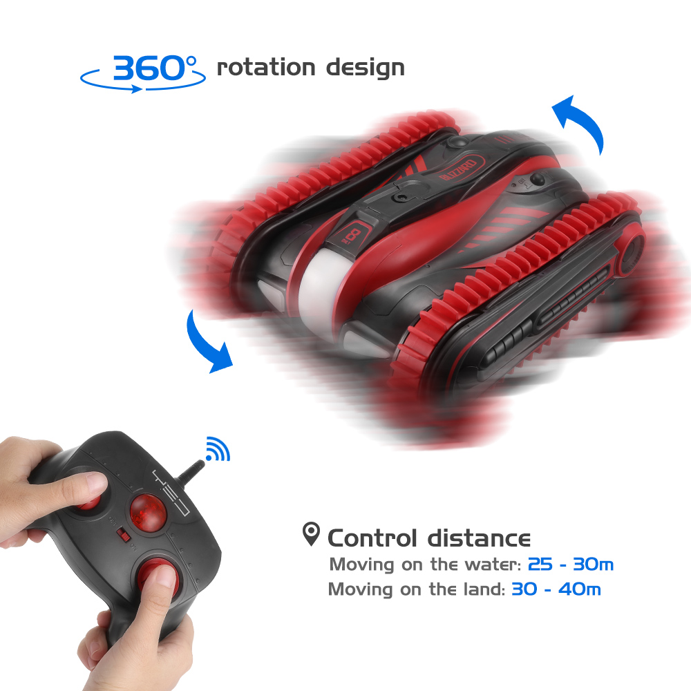 New RC Cars 2.4GHz 6-Channel Amphibious Car 360-Degree Rotation Vehicle Toy Remote Control Toys Gifts For Kids