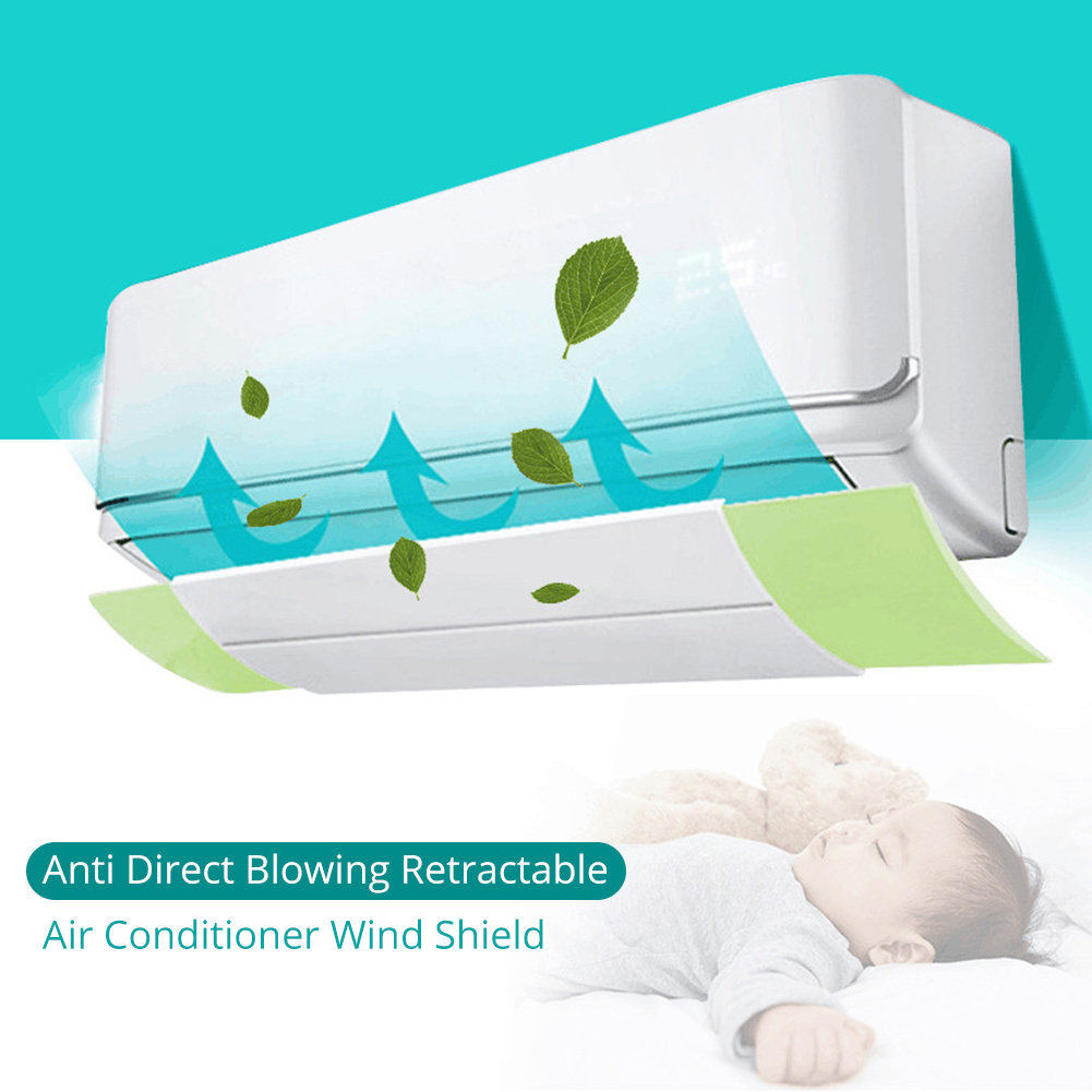 Grey parabrisas retractable del escudo del viento del aire acondicionado del escudo del Anti-viento para el hogar Deflector del aire acondicionado