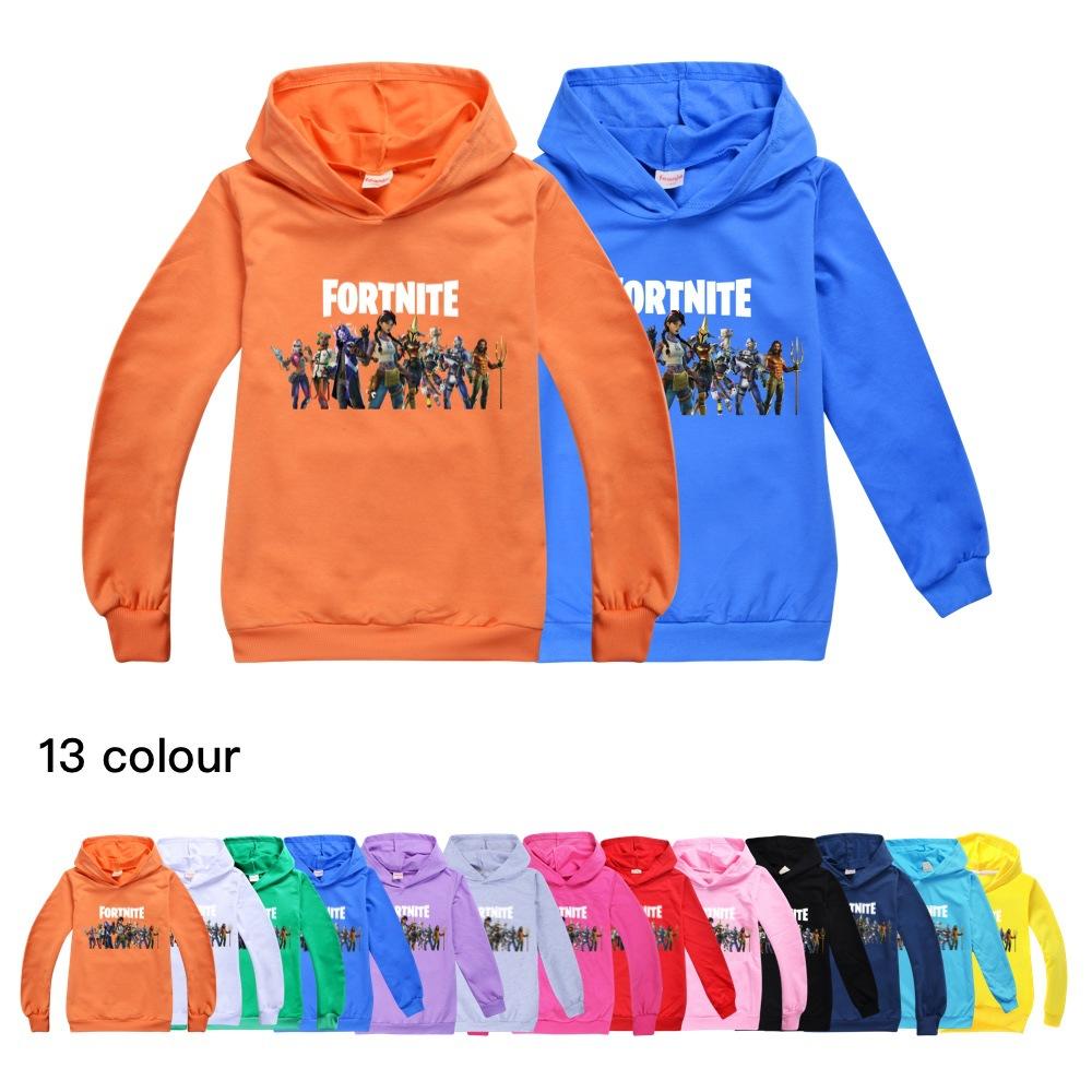 Fortnite fortnite hooded hooded long-sleeved sweater children boys and girls hooded top sweater 509 Baby Kids Clothing