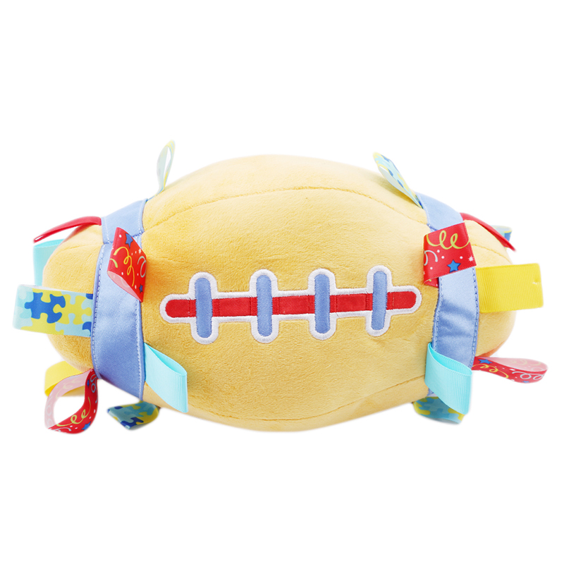 2018 Baby Kids Sport Toys Fun Plush Rugby Hand Catching The Ball Early Education Stuffed Football Sports Toys