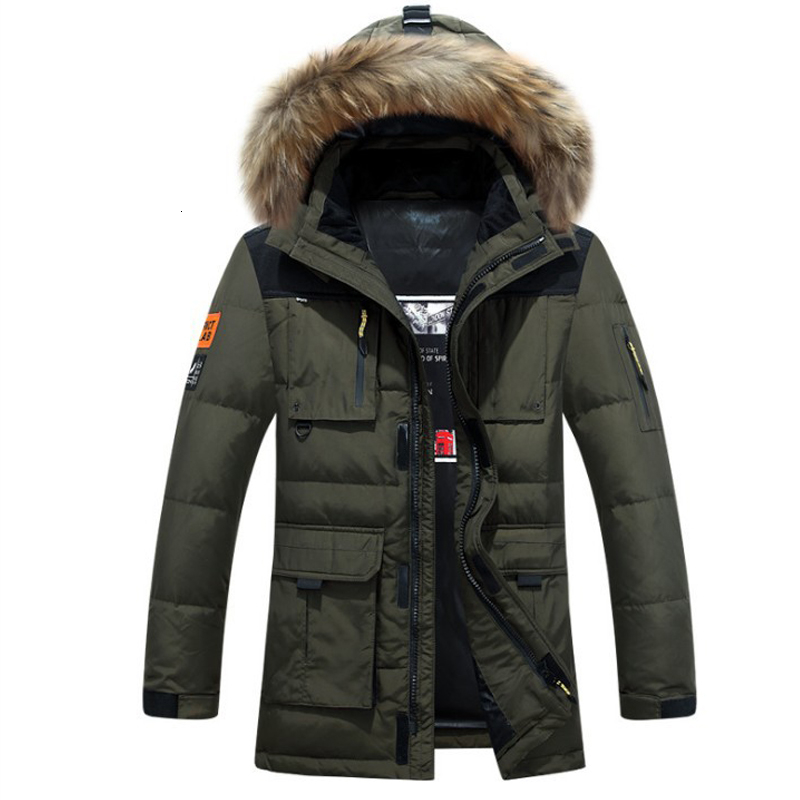 2017 winter jacket men coat duck down jacket with fur hood Removable parka men coat masculine jacket Plus Size