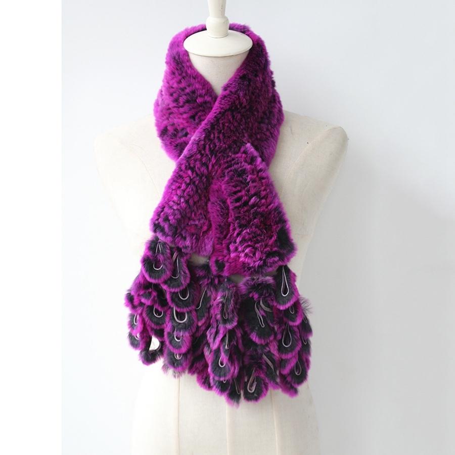 knitted rabbit fur scarf rabbit (5)