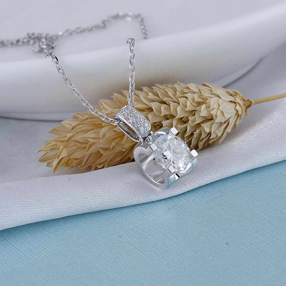 moissanite pendant necklace silver (5)