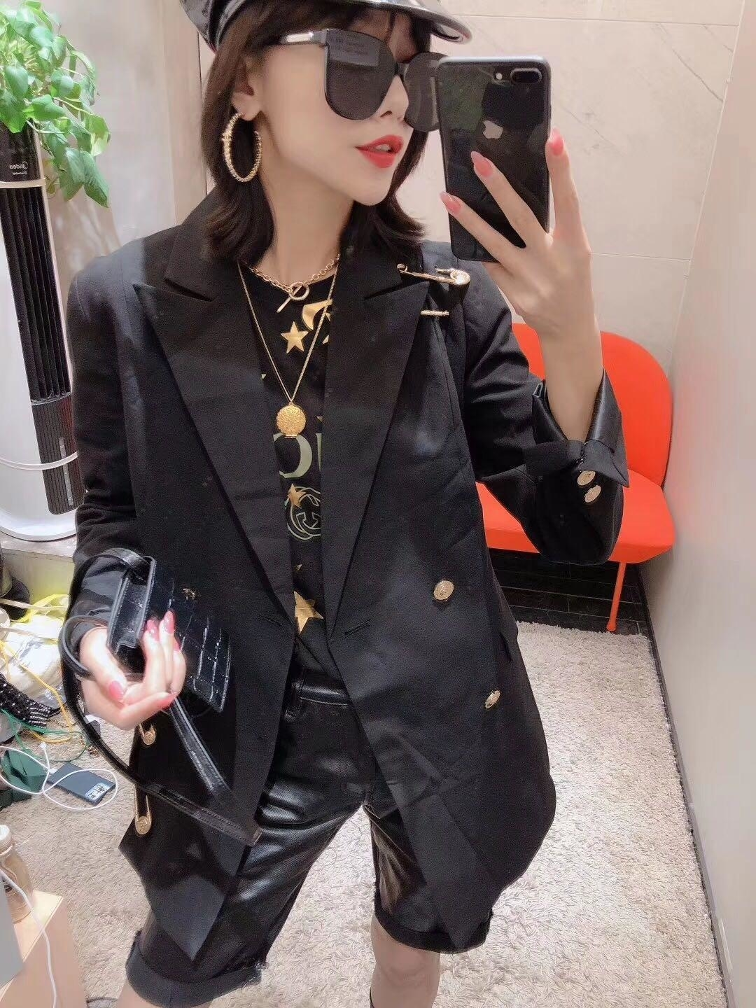 decoration clothes Jepanese style Pin women Slim fit women jacket coat Long sleeve blazer casual outwear coats plus size women clothing
