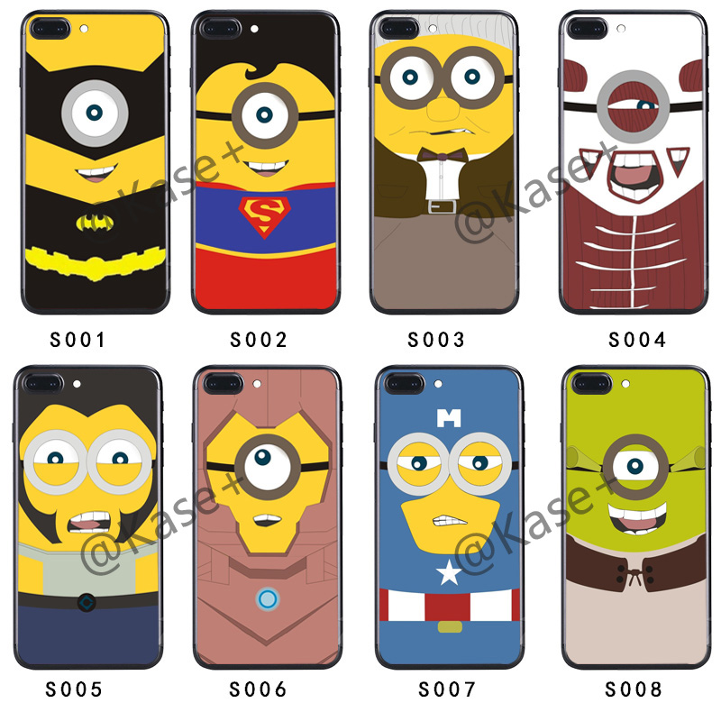 Cute Minions Cartoon Character Mobile Phone Case Cover for Oppo ,custom Printed Phone Case
