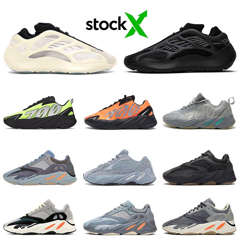 2020 adidas yeezy yeezys yezzys yeni 700 mnvn v3 erkekler kadınlar ayakkabı Dalga Runner Azael Alvah Karbon Mavi 3m yansıtıcı kanye erkek eğitmen