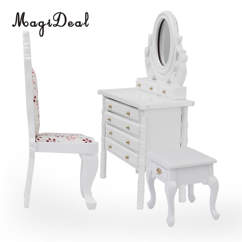 1:12 Dollhouse Miniature Wooden Classical Desk Clock Classic Furniture Toy  CYC
