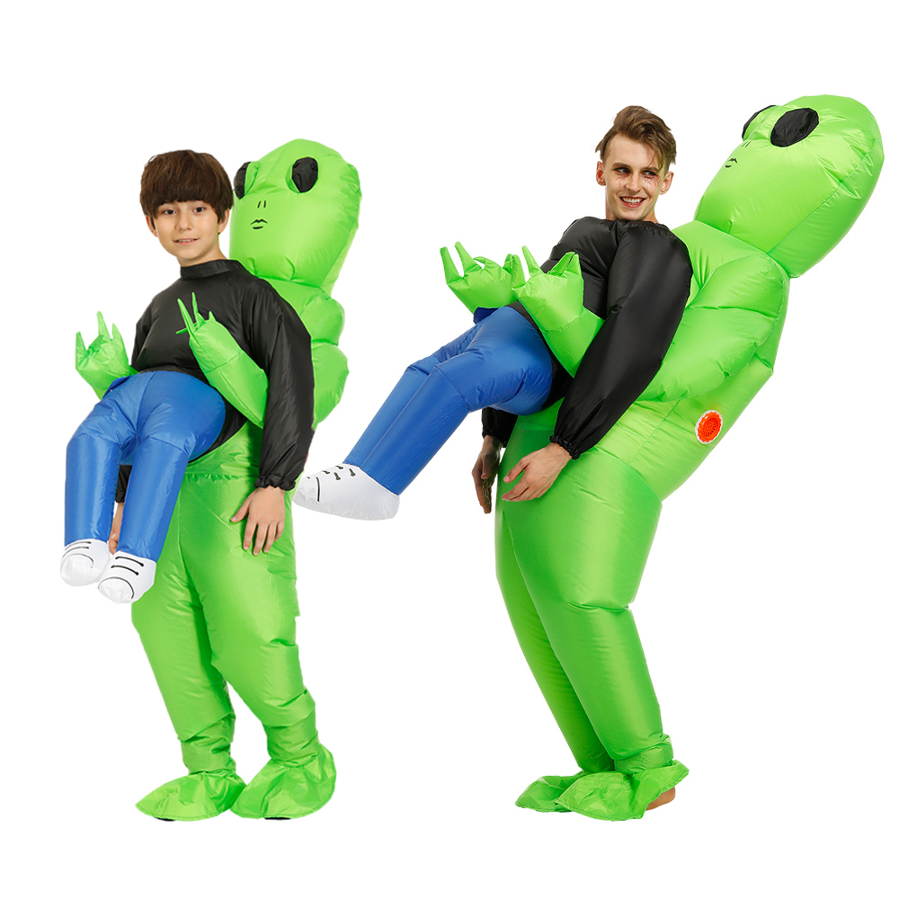 Alien Pick Me Up Inflatable Blow Up Costume Fancy Dress Costume One size fits most