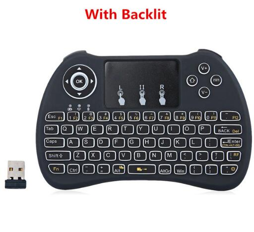 Wireless Backlit Blacklight Keyboard H9 Fly Air Mouse Multi-Media Remote Control Touchpad Handheld For Android TV BOX