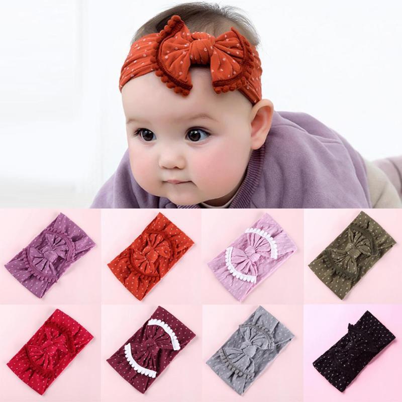 6PCS//1PC Kids Girls Babys Headband Bow Knot Nylon Soft Hair Band Childrens ks