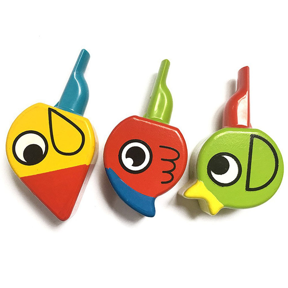 Wooden Animal Bird Whistle Kids Musical Instrument Educational Whistle Toy
