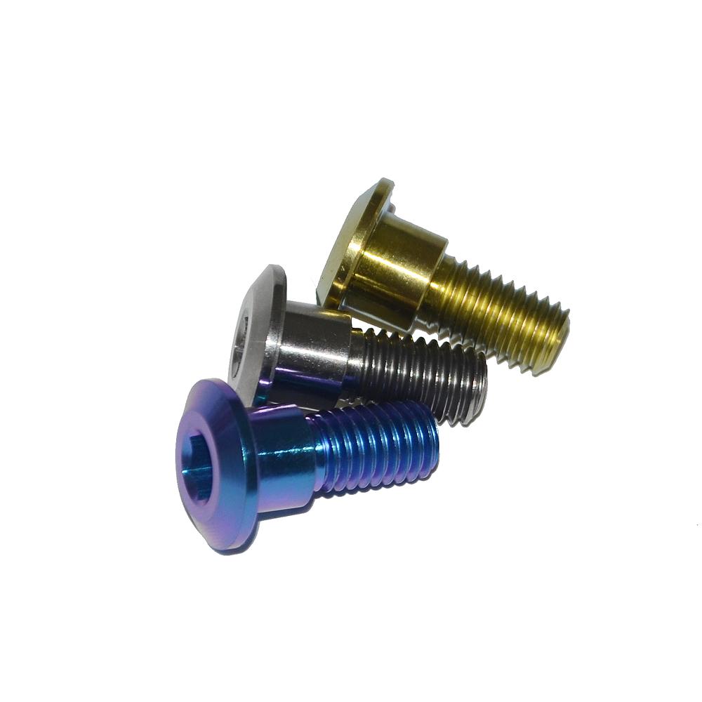 4/St/ück Wanyifa Titanium Ti M6/x 20/mm Innensechskant-Schrauben mit konischem Kopf und Unterlegscheiben f/ür Fahrrad-Scheibenbremsen
