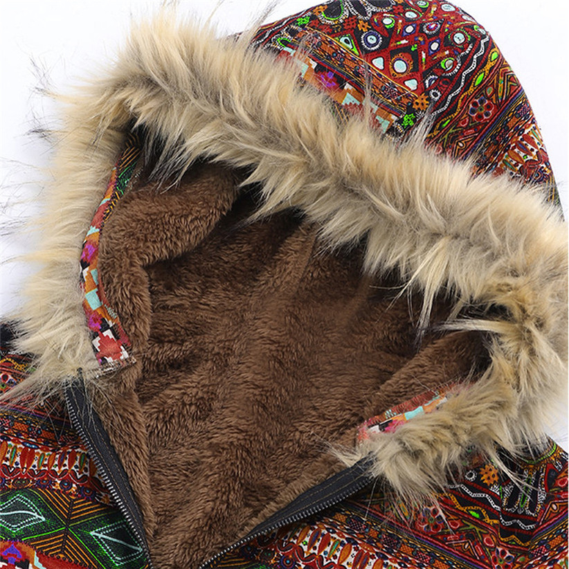 Newly Design Fashion Women Boho Warm Coat Fur Hood Woman Large Plus Size Overcoat Female Thick Fleece Jackets Woman Coats Y190826