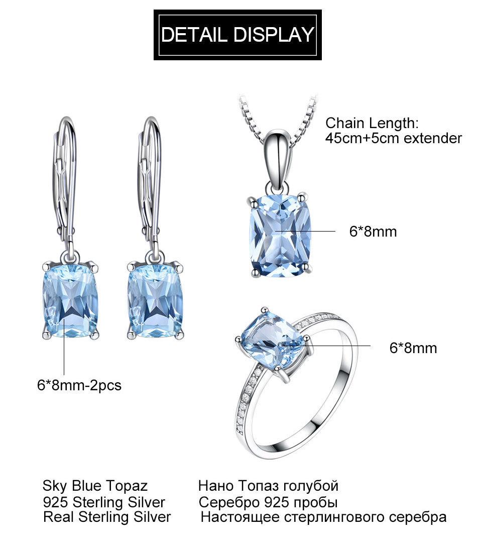 UMCHO Sky blue topaz silver sterling jewelry sets for women EUJ054B-1-pc (11)