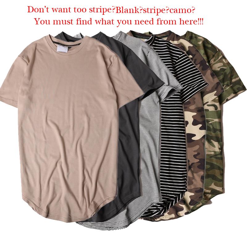 2017-Summer-Striped-Curved-Hem-Camouflage-T-shirt-Men-Longline-Extended-Camo-Hip-Hop-Tshirts-Urban