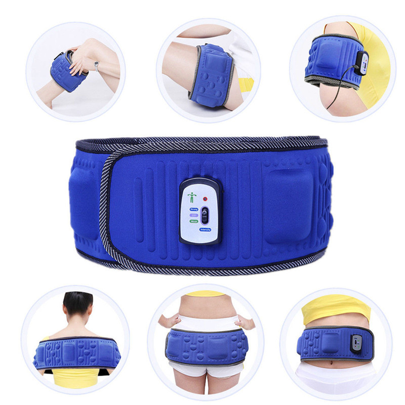Electric Slimming Belt Lose Weight Fitness Massage X5 Times Sway Vibration Abdominal Belly Muscle Waist Trainer Stimulator Y181122