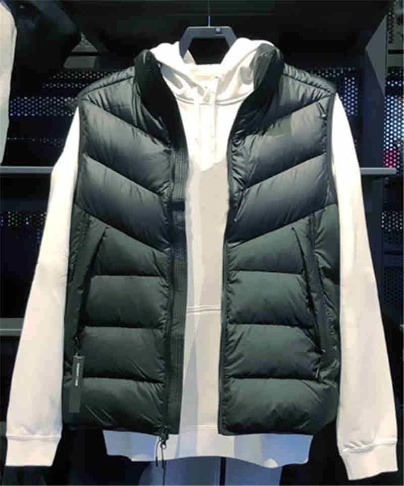 LD Mens Winter Warm Stand Collar Fleece Lined Slim Down Quilted Jacket Coat