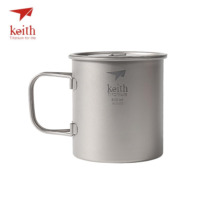Keith Titan Becher Outdoor Mug Camping Tasse Mit Deckel Picknick Geschirr