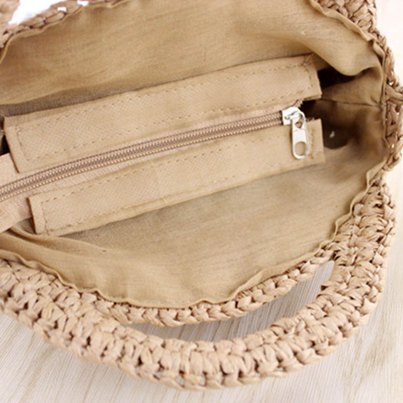 Special Treatment! ! ! Preferential Price Straw Beach Bag Mini Handbags For Women S Rattan Purses Bali Bohemian Female