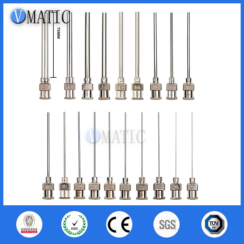 "12pcs 21Ga Blunt stainless steel dispensing syringe needle tips 1//4/"""
