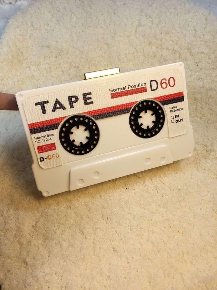 Acrylic Handbag Transparent Tape Cassettes Evening Clutch Bag Hard Box Clutch High-end Hand Bag Small Party Purse Handbags Y19051702