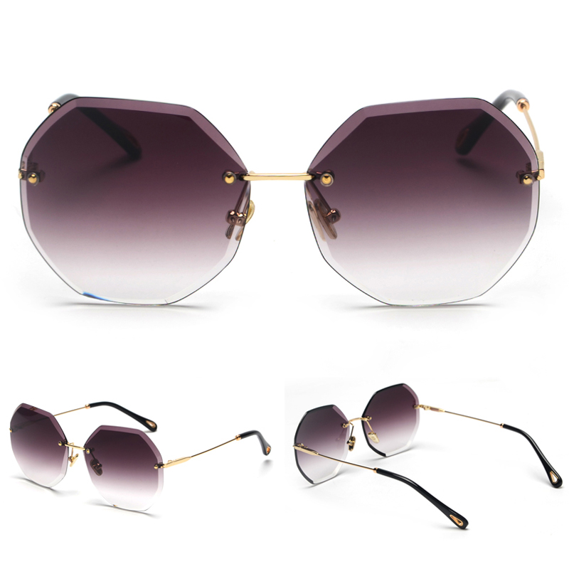 Octagon Sunglasses Women Fashion detaail (4)