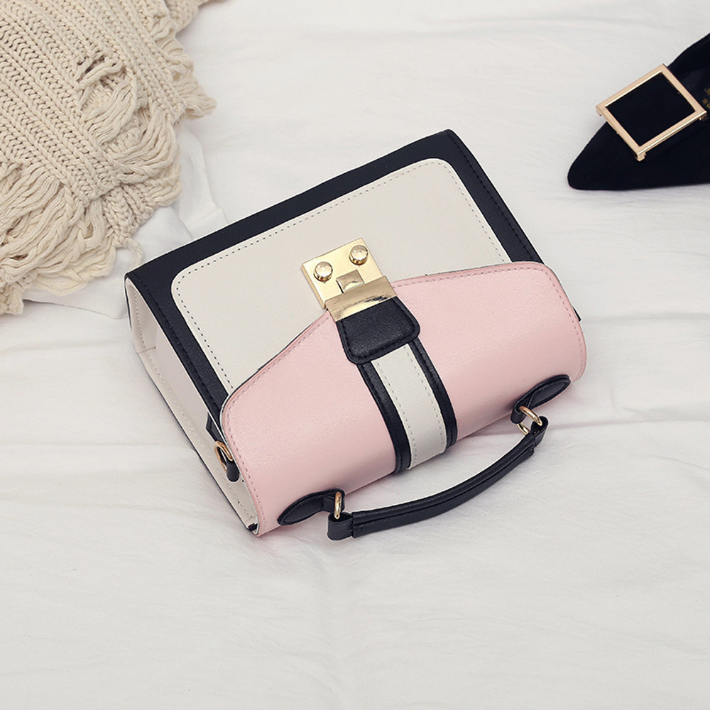 Shoulder women handbag mini bag woman sling black female Fashion Hit Color Shoulder Messenger Satchel Tote Crossbody Bag bolso mimbreTotes