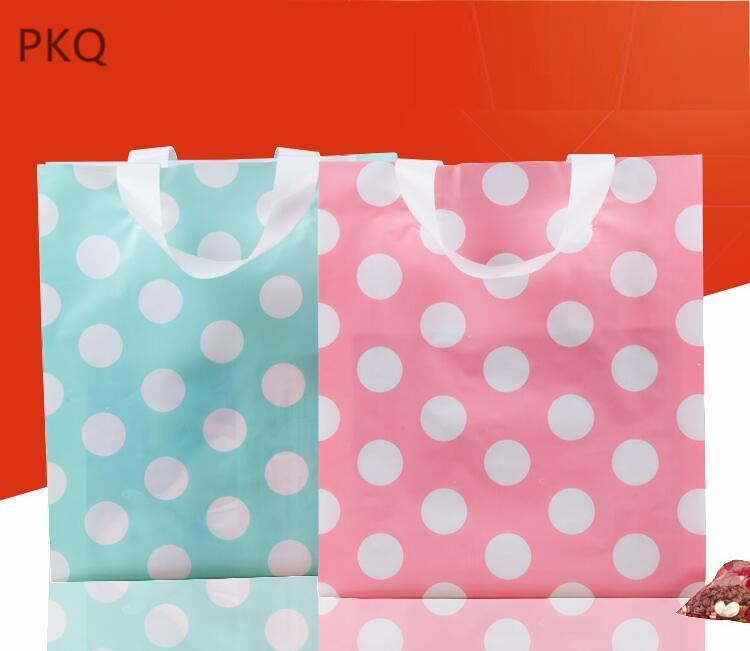 100pcs Supermarkt Tasche Lächeln Plastiktüten Einzelhandel Geschenk Beutel