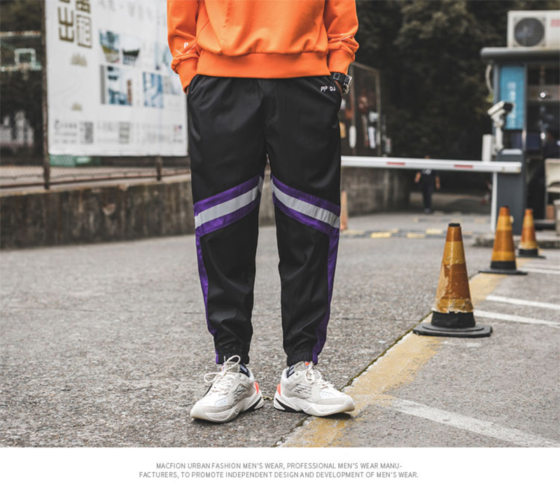 Loose Hip Hop Cargo Pants Men Camouflage Patchwork Harem Mens Trousers Streetwear (45)