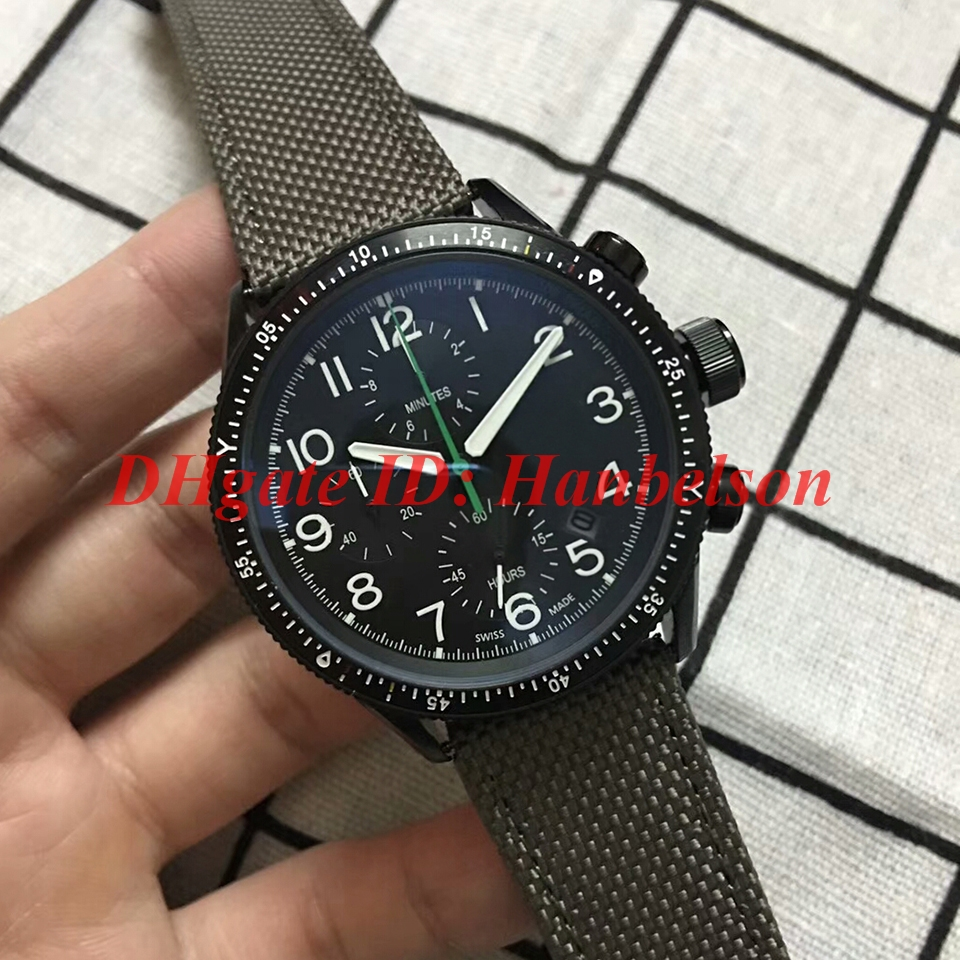 Hot sale Paradropper LT Staffel 7 Limited Edition Men watch 01 774 7661 7734-Set TS Japan quartz 6S10 Fabric leather strap PVD WristWatch