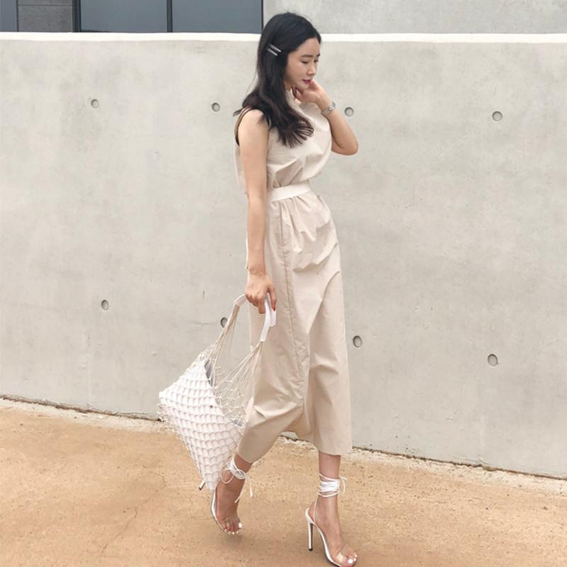 Chicever 2018 Sommerkleid Für Frauen Sexy Slash Neck Große Tasche Taille Lace Up Hem Split Dünne Kleider Weibliche Korean Fashion Tide Y19070801