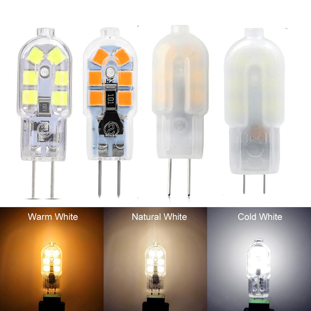 Ywxlight 10 / set 2w 3w 4w Pequeño G4 Led Ac Dc 12v 24v Smd 2835 Bombilla Foco de lámpara halógena Foco Q190601