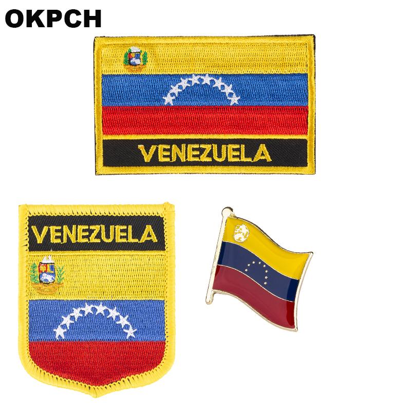 REPUBLIC OF VENEZUELA VENEZUELAN NATIONAL FLAG Sew on Patch Free Postage