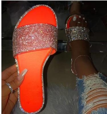 2pcs Shoe Band High Heel Strap Elastic Sandals Decoration Rhinestone Shiny Belt