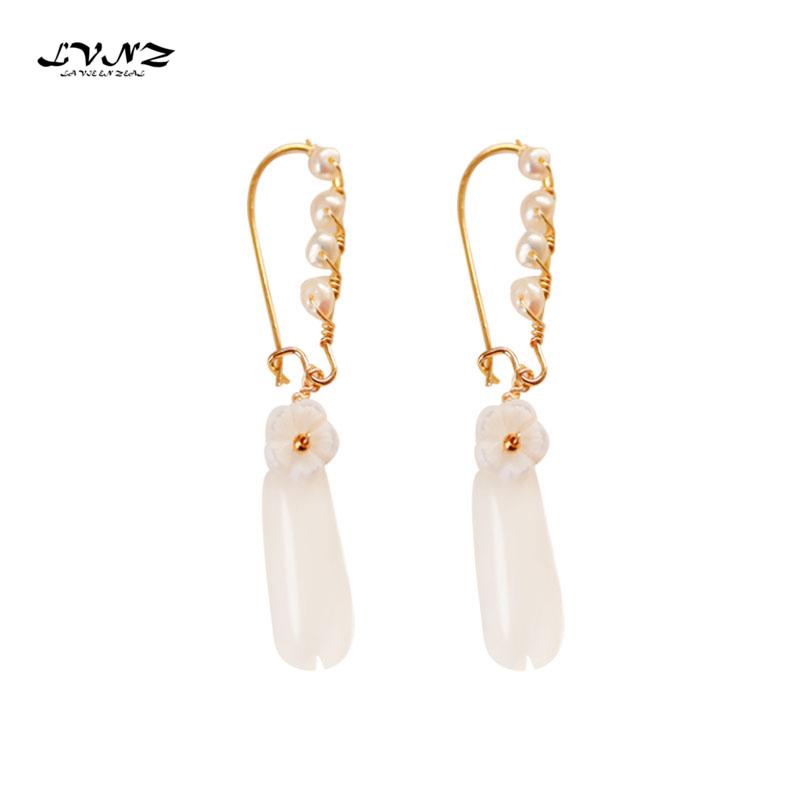 Luxe Perlas y Cristal Flor Gota Pendientes de declaración