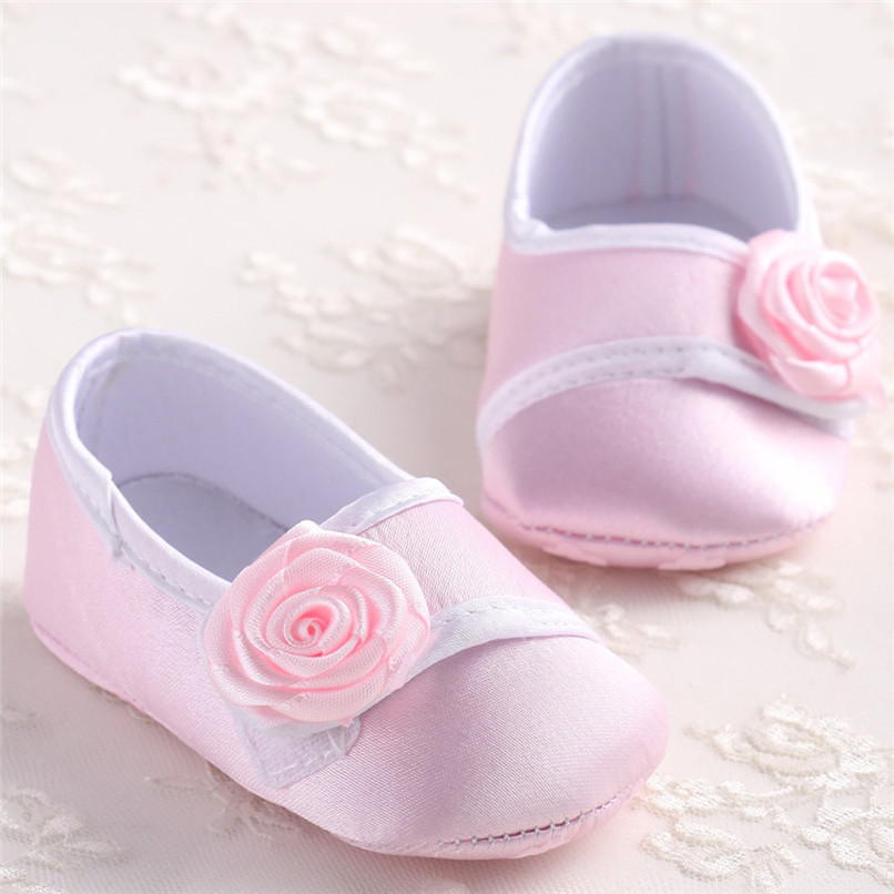 Baby Girls Shoes Fashion Newborn Infant Baby Girls Solid Flower Shoes Soft Sole Anti-slip Shoes Baby First Walker Shoes M8Y14 (12)