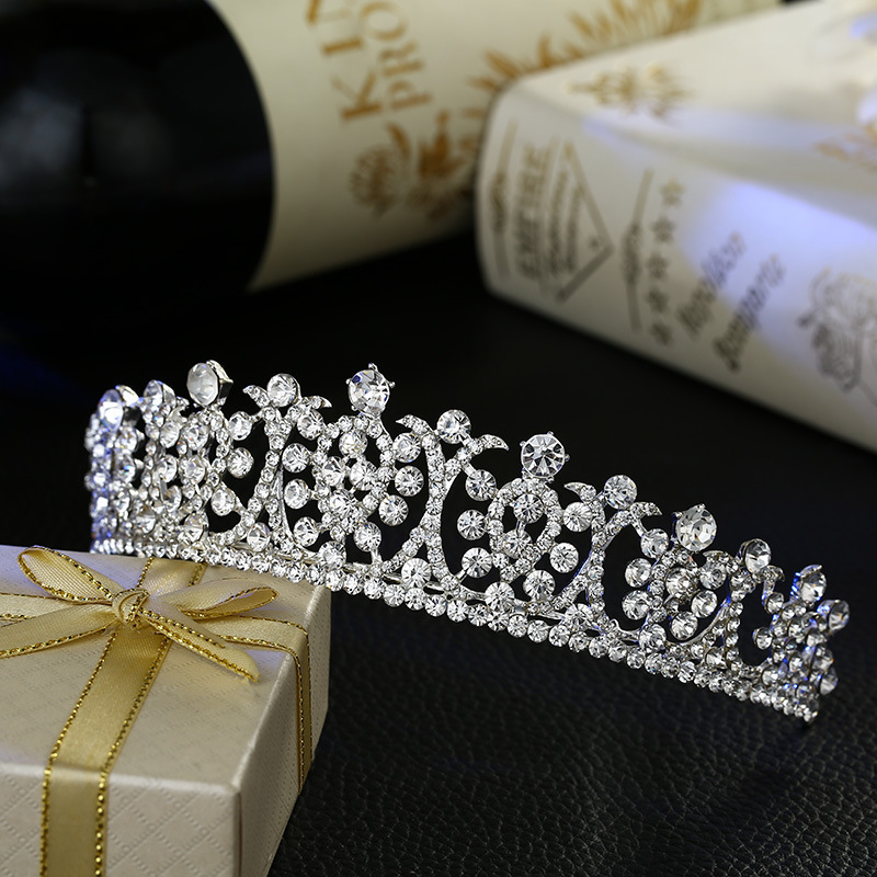 new bride wedding hair jewelry crystal tiara brida...