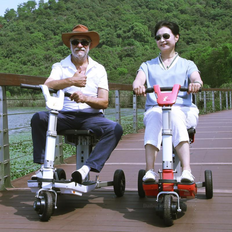 Disability Electric Scooter 3 Wheel Electric Scooter For Elderly Disabled Folding Electric Wheelchair (53)